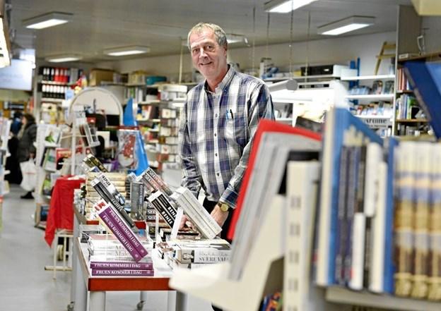 Lars Christoffersen slår dørene op til bogudsalget om en uge.