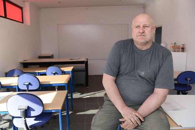1. maj begynder det første hold elever undervisningen i dette lokale på Hadsundvej.