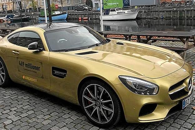 Her er bilen som fire thyboer kan vinde en tur i hos Kvix. Privatfoto