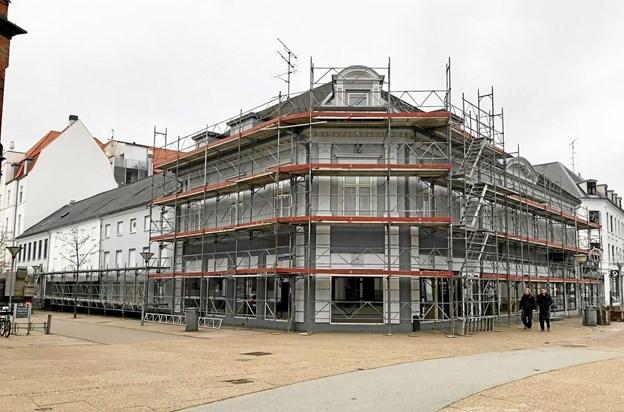 Et af Wenbos igangværende projekter på Springvandspladsen.