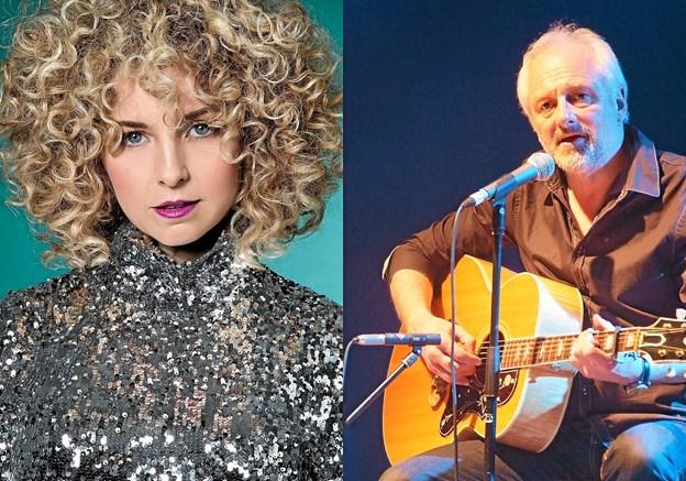 To nordjyske musikere der kan deres kram: Dorthe Gerlach med den store stemme den 11. oktober og erfarne Allan Olsen, altid med noget på hjertet, den 27. oktober. Privatfotos