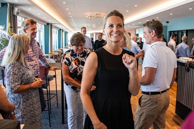 Hoteldirektør Camilla Frost tager imod i de nye lokaler efter en hektisk byggeproces. Foto: Kim Dahl Hansen