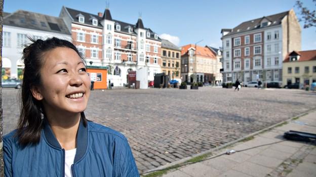 Maria Morre glæder sig over, at der er stor opbakning til aktiviteterne på Frederikstorv.