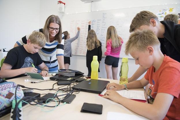 Den alternative klasse kunne placeres på Aalbæk Skoleafdeling side om side med den øvrige undervisning, hvorfra dette foto stammer. Arkivfoto