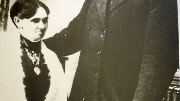 Hér er parret Mundeling - cirkusdirektricen og hendes cirkusdirektør. Privatfoto.