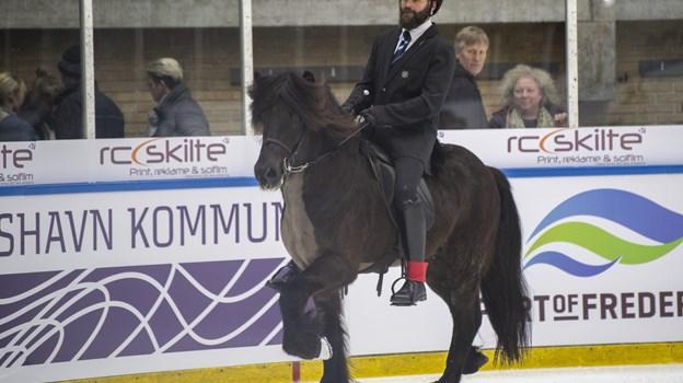 Istølt er en spektakulær sport, og istølt i Frederikshavn er langt fremme i hesteskoene.  ?Foto: Andreas Falck © Andreas Falck