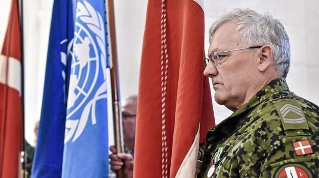 Veteranerne mindes med stille eftertænksomhed. Foto: Ole Iversen