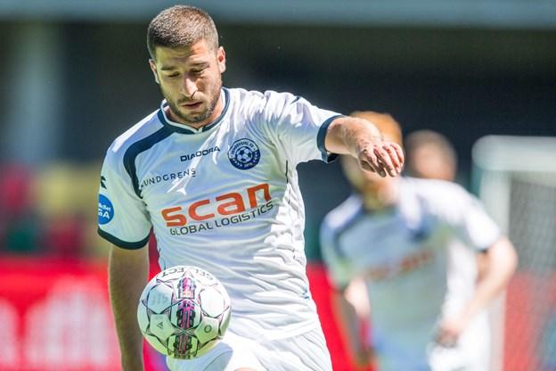 Ninos Gouriye scorede til 1-0 for Vendsyssel. Arkivfoto: Andreas Falck