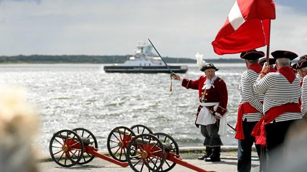 Aalborg Kanonlaug var på plads med saluteringer. Foto: Allan Mortensen Allan Mortensen
