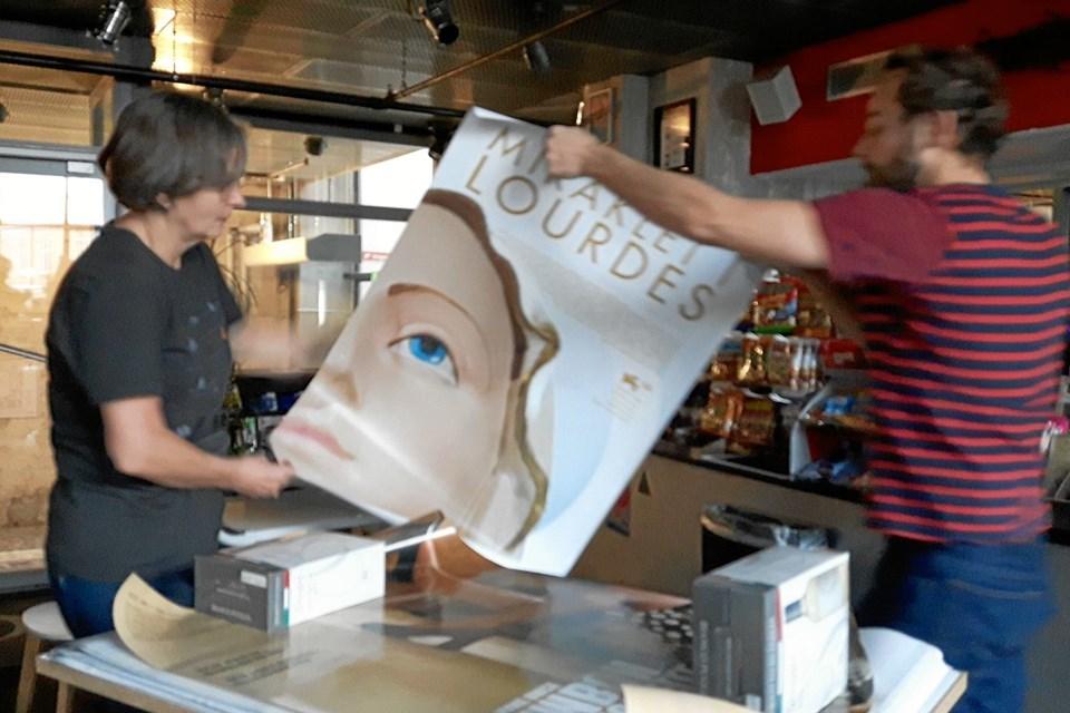 Også sidste år var Biffen i gemmerne og satte et udvalg af gamle filmplakater til salg. Foto: Biffen