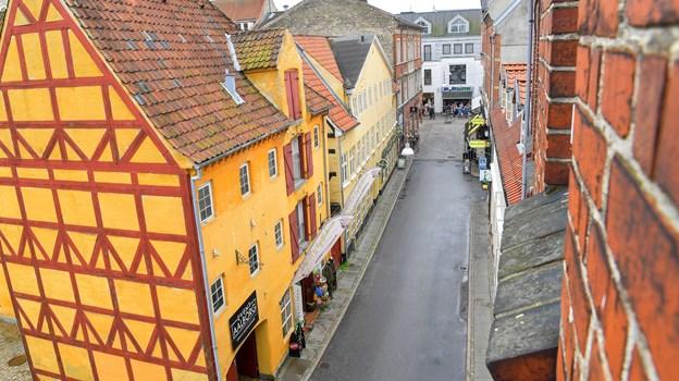 Marens Turis Gade menes i sin nuværende form at stamme fra sidste del af 1500-tallet. Foto: Jesper Thomasen