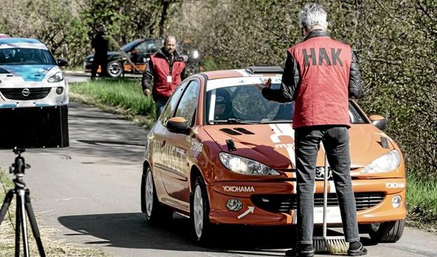 43 biler var til start ved Hill Climb Rally i Tolne. Foto: Peter Jørgensen Peter Jørgensen