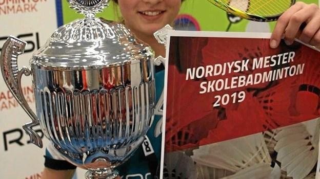 Emma Christensen fra Aabybro fik guld. Privatfoto