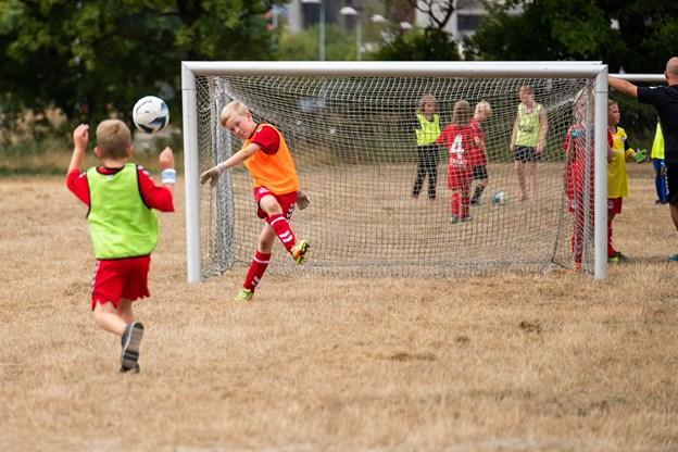 Nørresundby Forenede Boldklubber holdt turnering på den nyanlagte aktivitetsplads på Limfjordsvej.