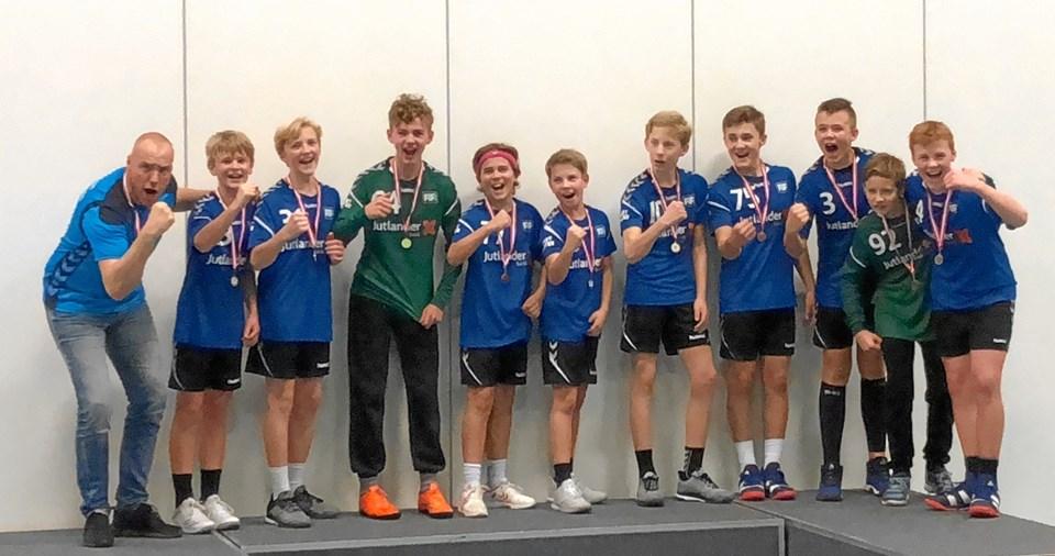 Glade vindere af Rør-Cup 2018 for U14.Privatfoto