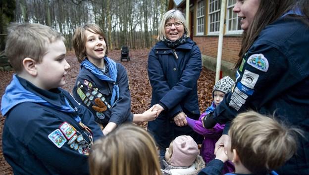 Ulla Johansen er klar til at tage imod de mindste og deres voksne til Familiespejd  i Terndrup. Arkivfoto: Laura Guldhammer