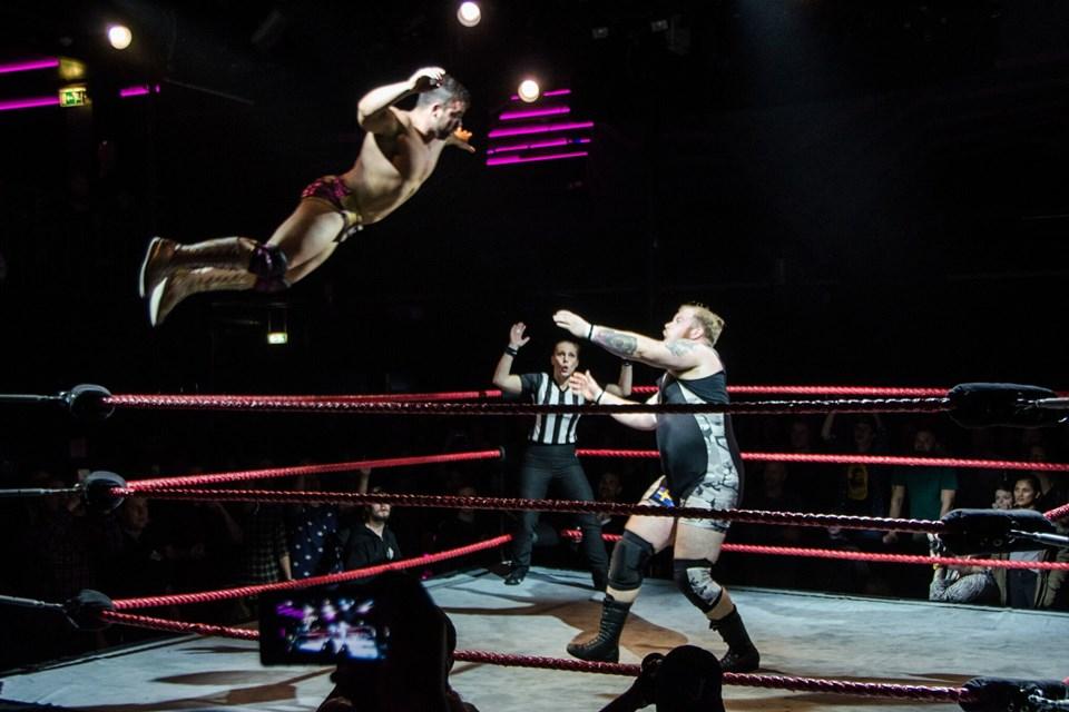 I weekenden er der atter wrestling i Aalborg. Privatfoto:Christopher Thomsen