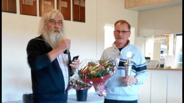 Årets golfer i JBG blev Bjarne Jensen. Foto: Bente Hjortkær og Kasper Mølbæk