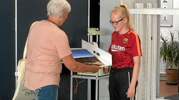 Sanne Nørgaard 5. A Koldby Skole tog 2. pladsen. Privatfoto Ole Iversen