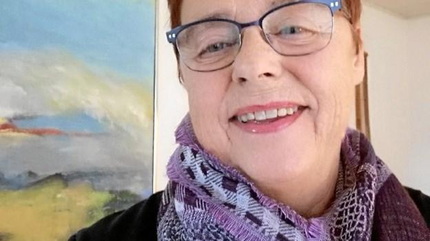 Karen Degn, Finderup - autodidakt kunstner. Privatfoto