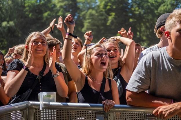 Fansene er på plads. Foto: Lasse Sand