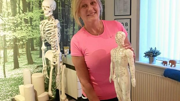 Jette Maria Bjærge er kommet med i massageklinikken i Sundby Mors.