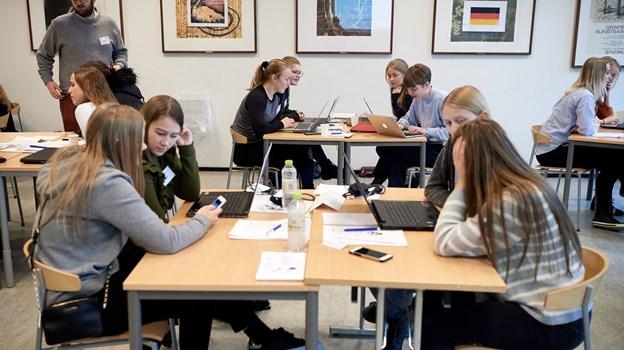 Det højeste antal unge hidtil deltager i årets sprogcamp på Hjørring Gymnasium. Billedet er fra sidste års camp. Arkivfoto: Henrik Bo