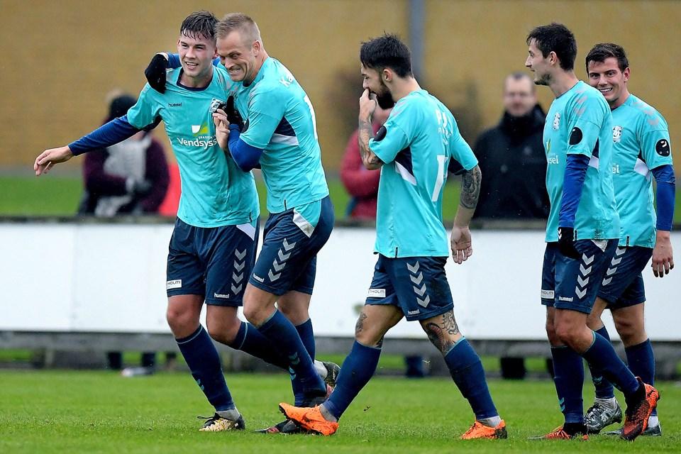 AaB-lejesvenden Nikolaj Lyngø stod for scoringen til 1-0. Foto: Lars Pauli