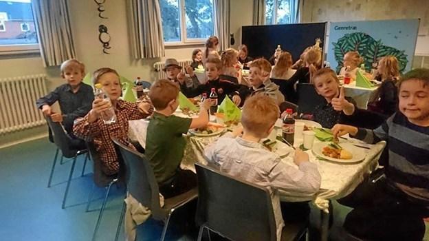 Børnene på Ørebroskolen var heldige at vinde en fest i Cyklistforbundets kampagne, Alle Børn Cykler.  Privatfoto