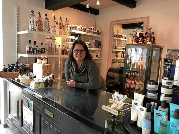 Louisa McKennell har udvidet sin butik. Privatfoto