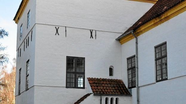 Jacob Severin havde kontor i hjørnetårnet i vestfløjen på Dronninglund Slot, og den lille tilbygning gjorde, at hans forretningsforbindelser kunne gå direkte op til ham. Foto: Ole Torp Ole Torp