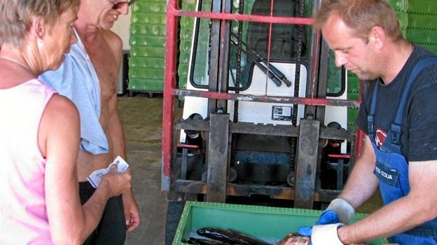 Løkken Fiskeriforening får støtte til køb af ny ismaskine så fiskene kan holdes kolde i Fiskernes Hus. Foto: Arkivfoto.