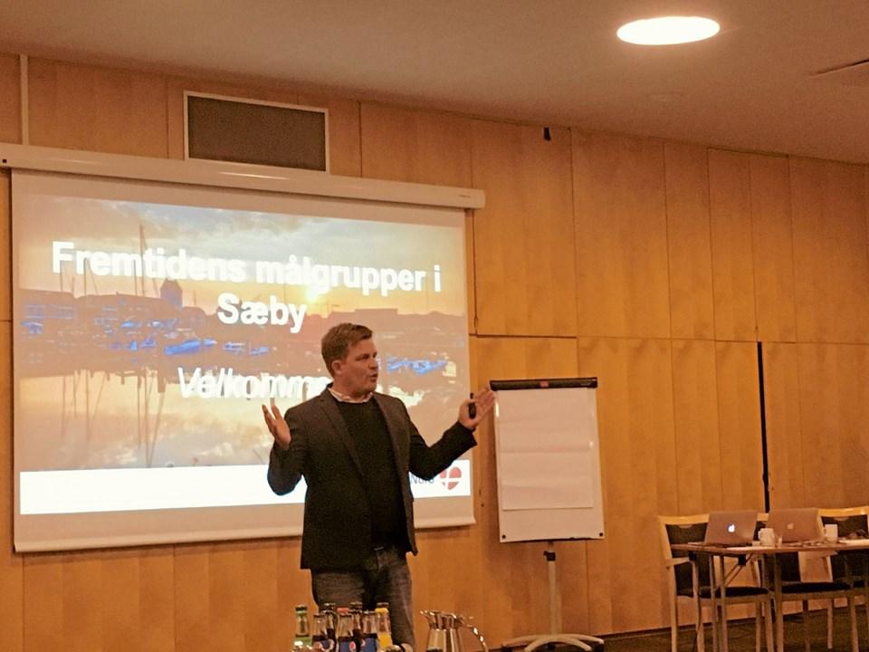 Turisthus Nords direktør Rene Zeeberg fortalte om betydningen af rette indsatsen efter specifikke målgrupper. Foto: Tommy Thomsen