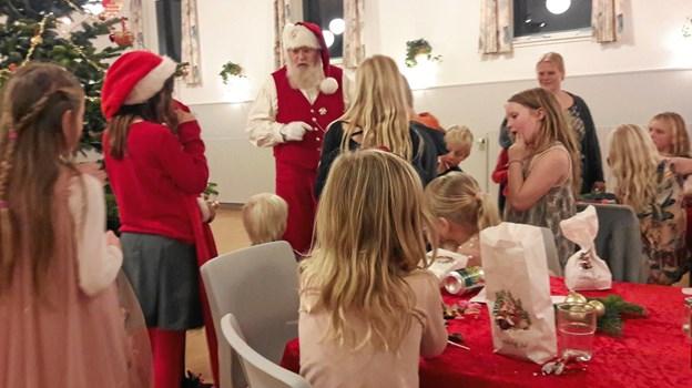 Santa Julle indtog LendumPrivatfoto