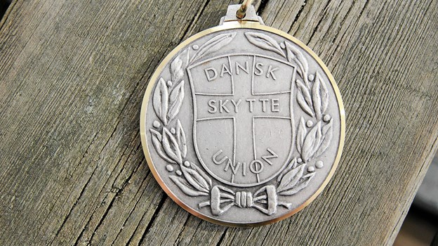 Den flotte sølvmedalje. Foto: Flemming Dahl Jensen