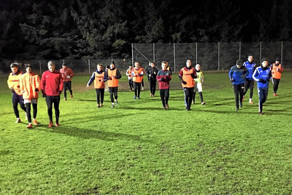 28 spillere var mødt frem til sæsonens første træning. Privatfoto