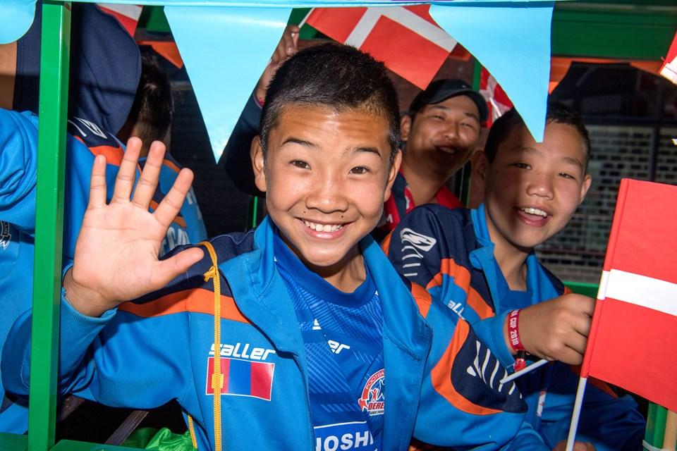 Glæde ved Dana Cup-åbningen. Foto: Henrik Louis