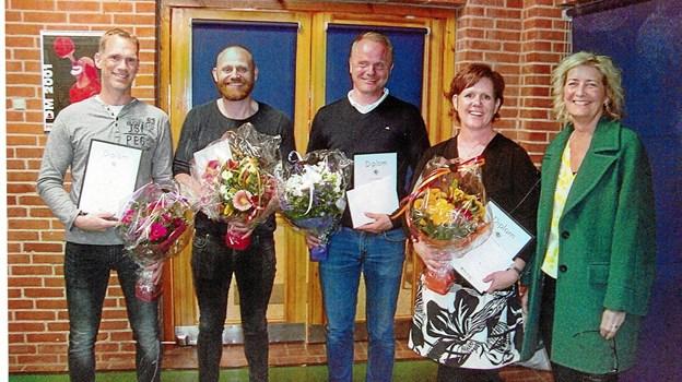 Fra venstre: Peter Christian Larsen, Jacob Libak Hansen, Jens Knudsen og Helle Bønnelykke. Privatfoto