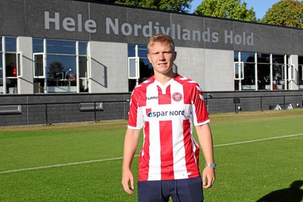 Philipp Ochs er angriber og har i 56 ungdomslandskampe for Tyskland scoret 23 mål. Foto: AaB