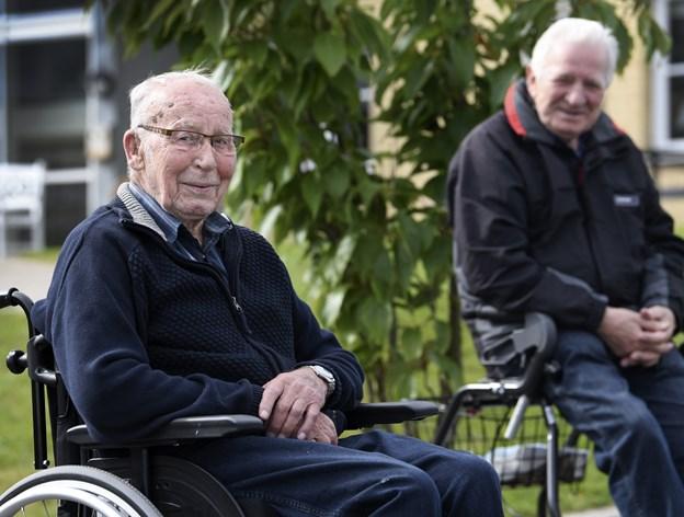 Nu 90-årige Børge Vinther Hansen har siden 2016 boet på Hobro Alderdomshjem. Arkivfoto: Mette Nielsen