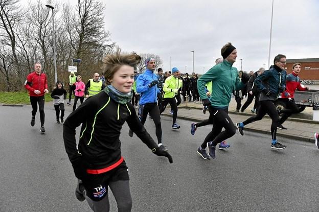 Også mange børn løb med på årets sidste dag.Foto: Ole Iversen Ole Iversen