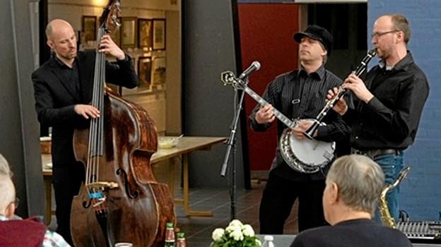 JazzPunch sørgede for den gode stemning i Kulturhuset i lørdags, og et lignende arrangement finder sted igen 30. marts. Foto: Bo Christensen - pressefotos.dk