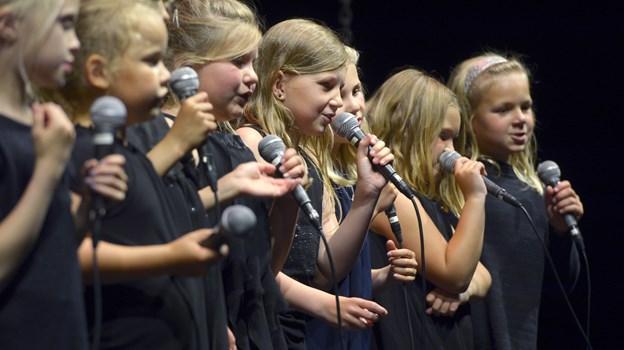 Koncert med Rytmisk pigekor   her er det rytmisk børnekor   Foto: Bente Poder