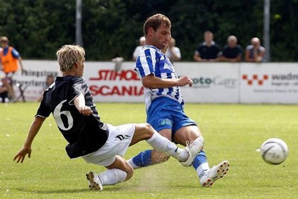 Andreas Overgaard og TFCs øvrige forsvarsspillere havde det nemt overfor et tamt Hjørring-hold.