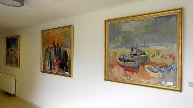 Blandt andre billede af Anders Norre udstilles på Løkken Museum i efterårsferien. Nogle af kunstnerens billeder hænger på Havgården. Arkivfoto