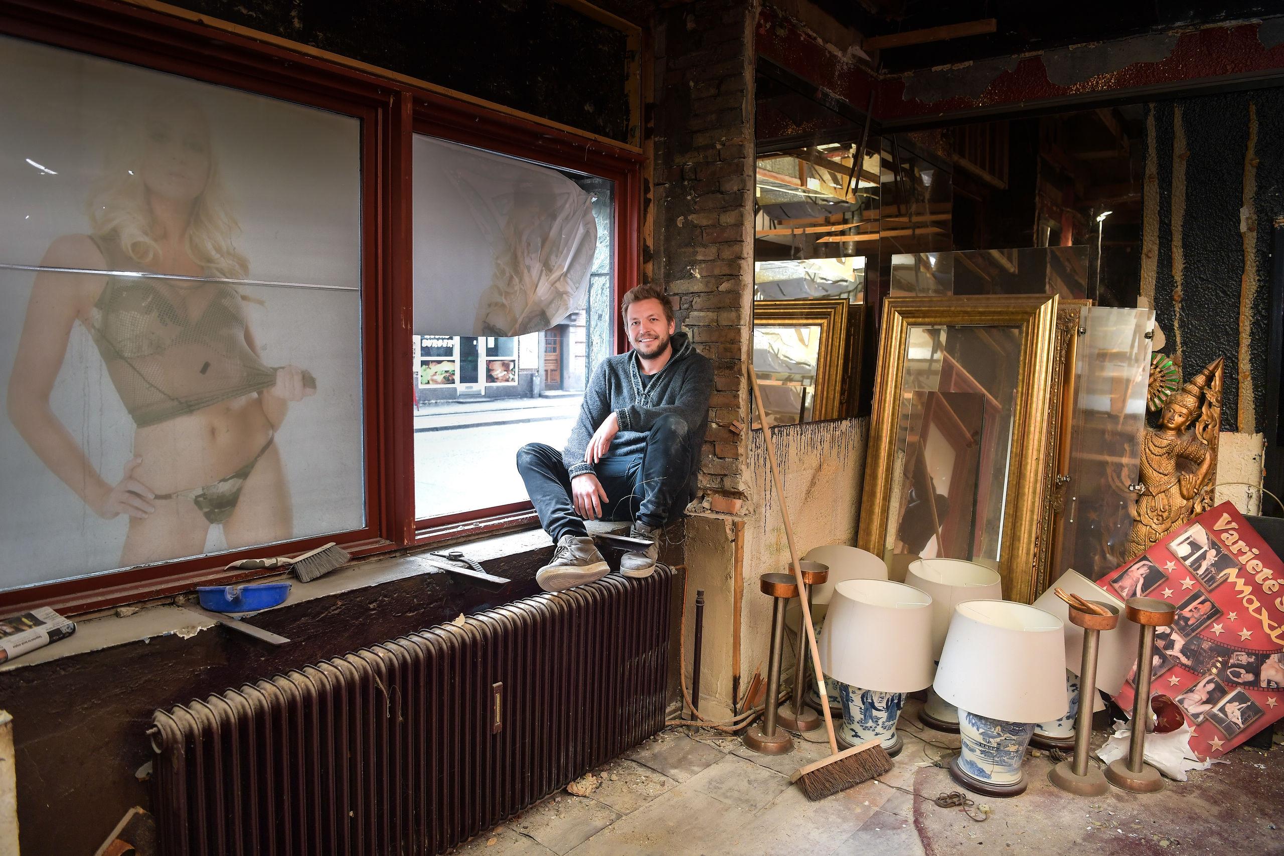 Mads Lilholt har nok at se til med at få omdannet den nu lukkede stripklub Maxim Bar til en spritny cocktailbar. Arkivfoto: Claus Søndberg