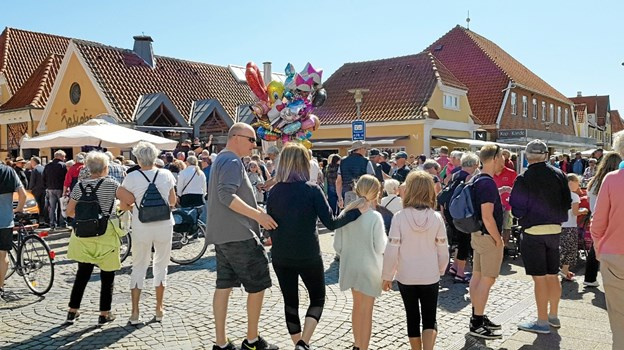 Der var dejligt liv i centrum under festivalen. Foto: Ole Svendsen