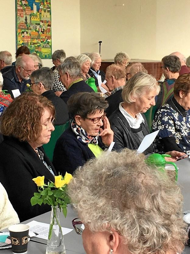 Ældre Sagen i Hobro mødtes til søndagscafé. Privatfoto