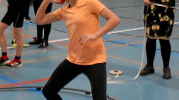 Victoria Kupetz sætter halrekord i kuglestød med 10,56 m for piger 12 år.