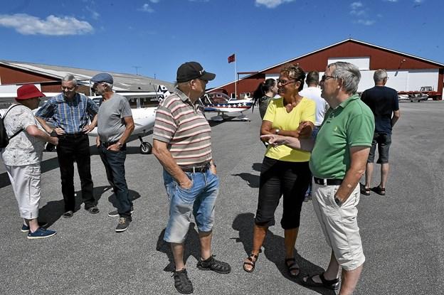 Mange fandt søndag vej til lufthavnen og Thisted Flyveklub.Foto: Ole Iversen